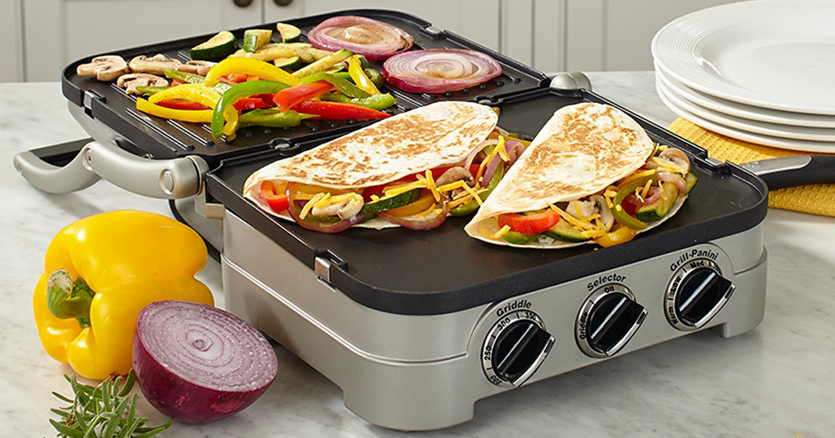 cuisinart griddler displaying food
