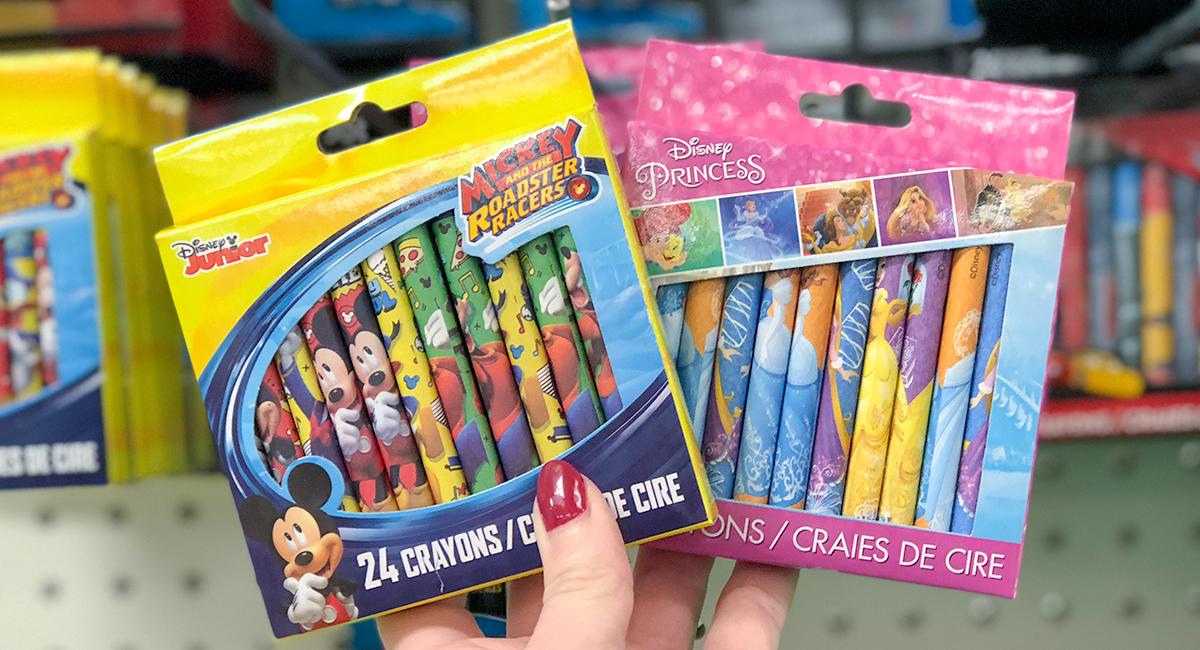 dollar store vacation tips disney crayons hip2save