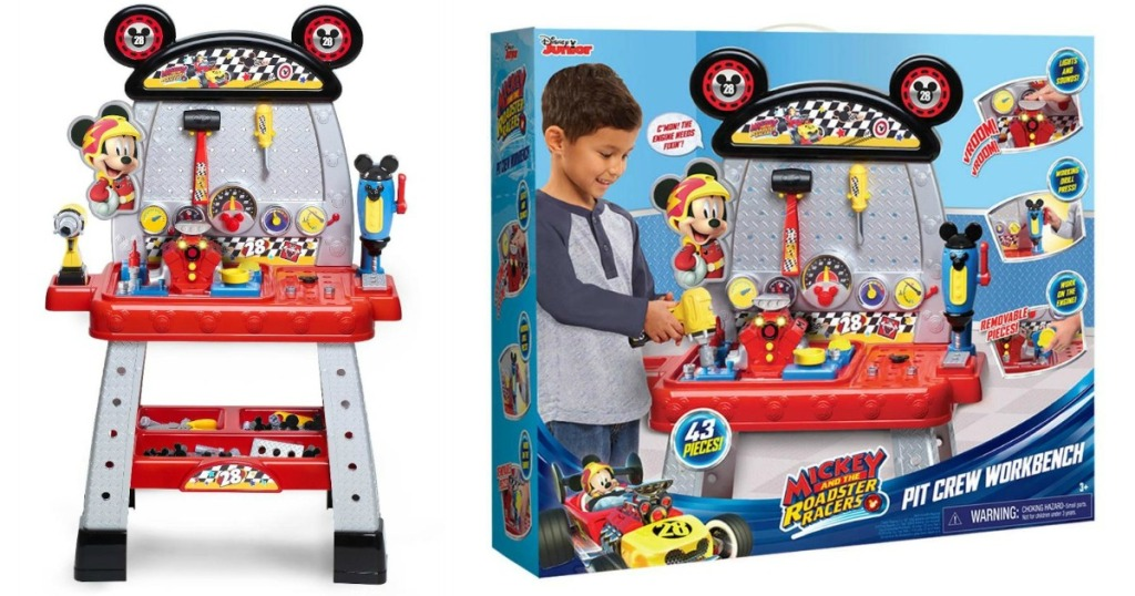 Just Play DISNEY JUNIOR MICKEY ROADSTER RACERS PIT CREW WORKBENCH Toy PLAYSET