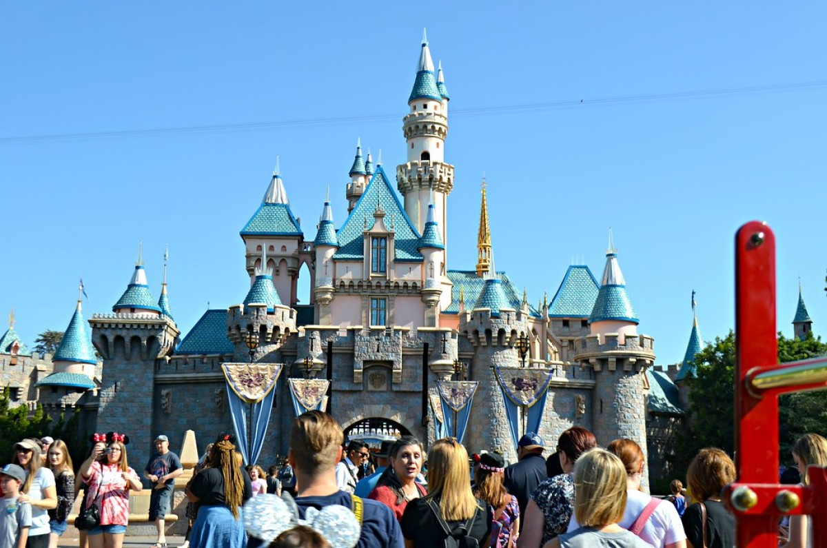 Cinderellas castle at Disneyland