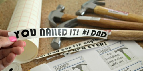 Gift Ideas For Dad: Father's Day Personalized Hammer (Free Printable)
