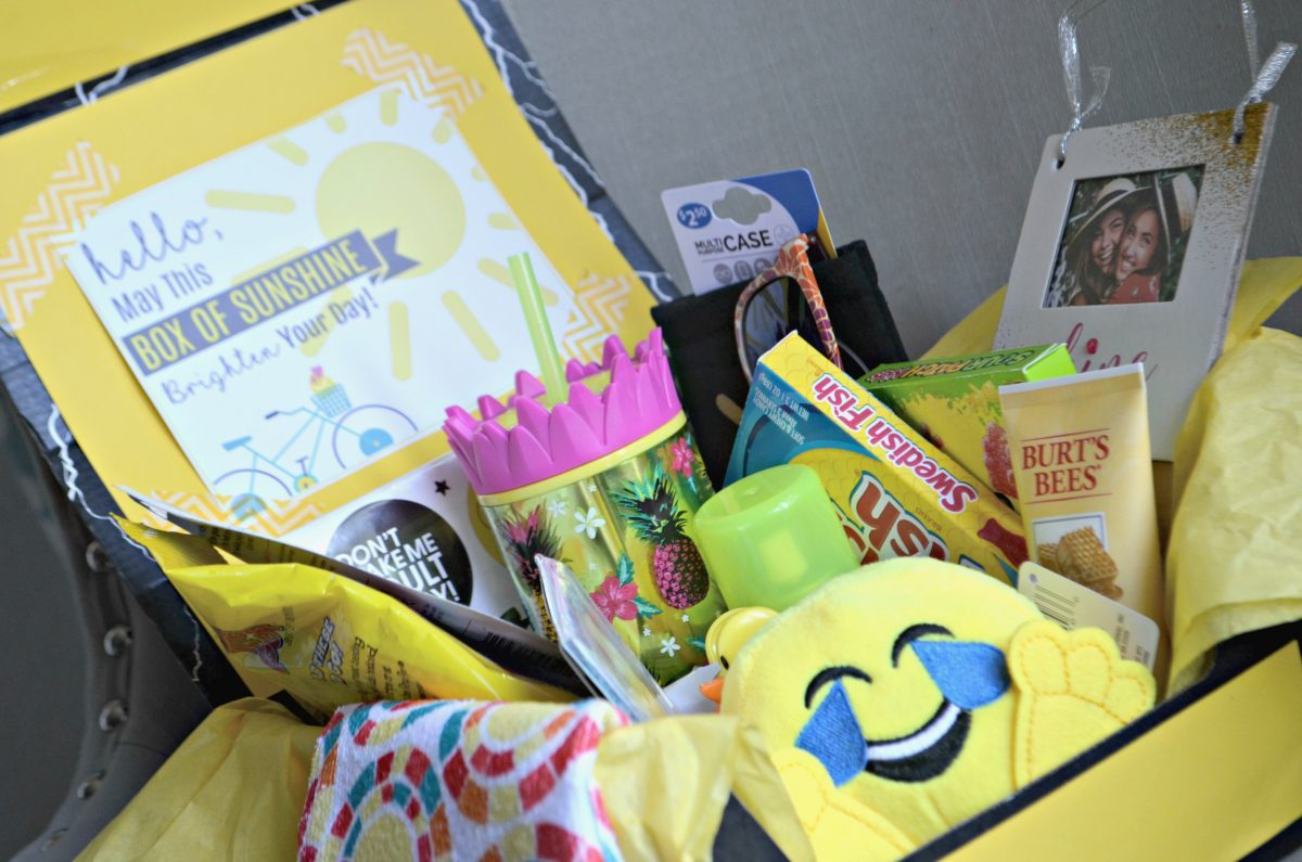 simple thoughtful ways to pay-it-forward in the new year – sunshine box contents