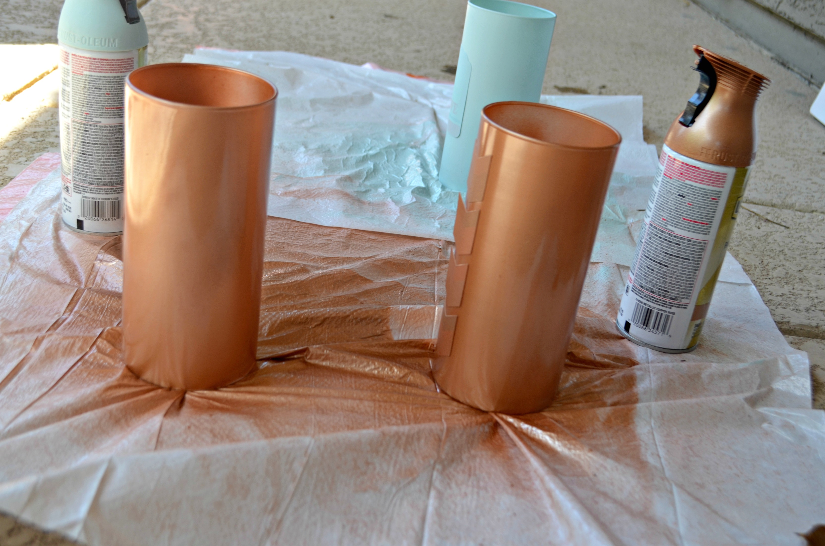 Two light coats of spray paint form the perfect finish.