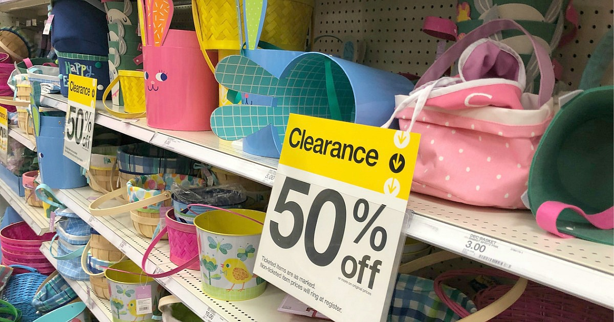 easter clearance baskets at target hip2save