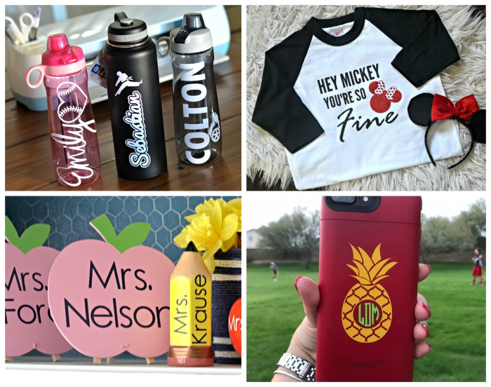 Cricut and Silhouette create clever products for home and school.