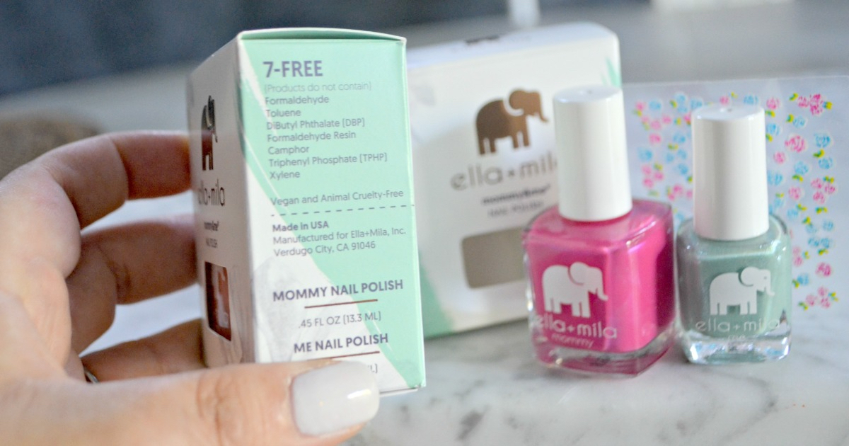 ella mila nail products deal - side of the box ingredients