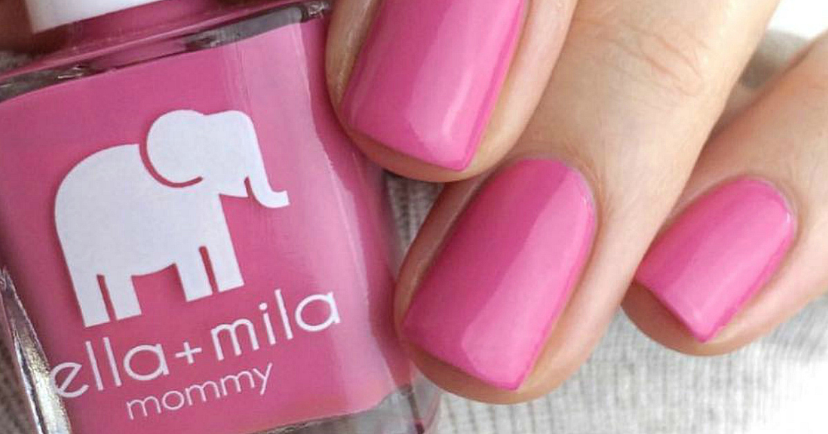 get ella+ mila sets with our promo code – closeup of pink polish and nails