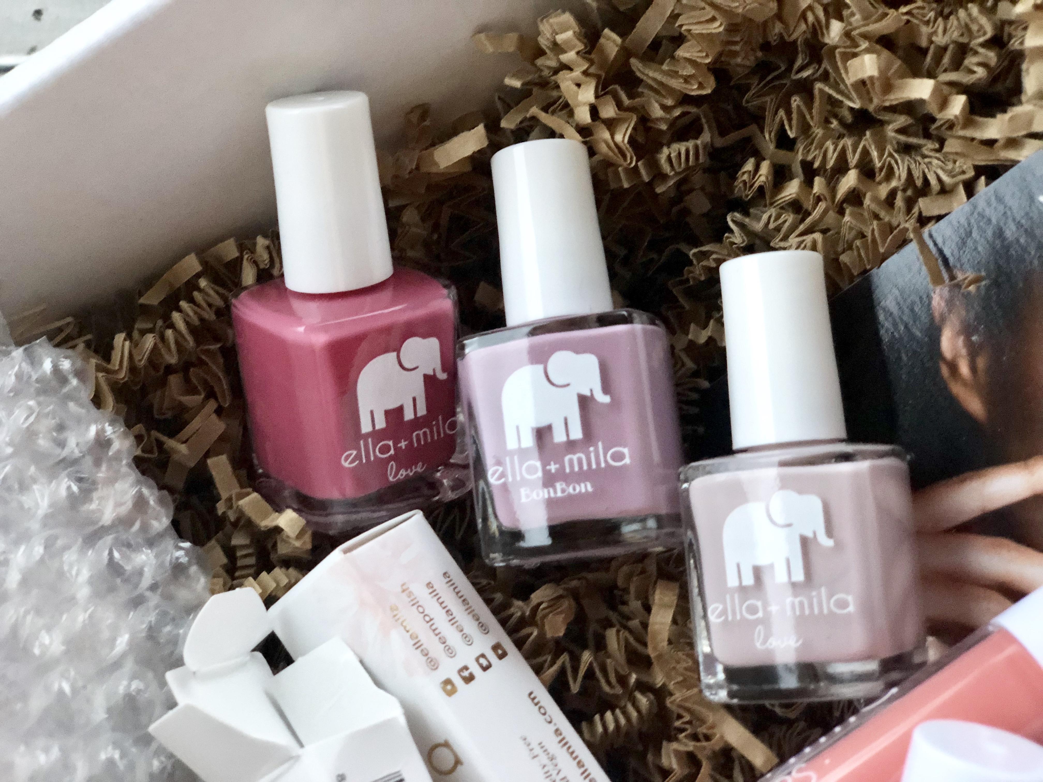 Ella + Mila nail products deal – nail polish bottles in a box
