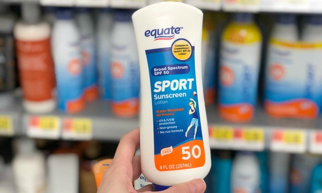 equate sport spf 50 sunscreen at walmart hip2save