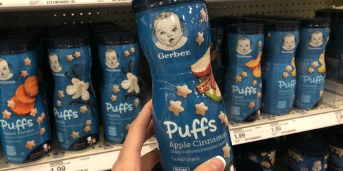 Gerber Puffs Canister 6-Count Only $8 on Amazon | Just $1.35 Each