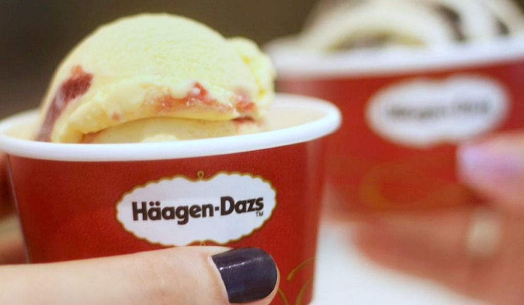 free ice cream at haagen daz on may 8 hip2save