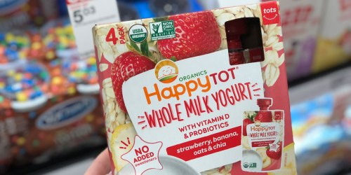 Target: Extra 25% Off Kids Yogurt (Happy Tot, Stonyfield, Danimals & More)