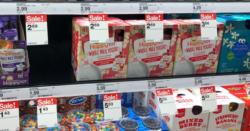 Danimals Smoothies Gogurt Yogurt More Only 99 At: Target: Extra 25% Off Kids Yogurt (Happy Tot, Stonyfield