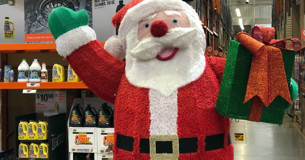 Santa display at Home Depot