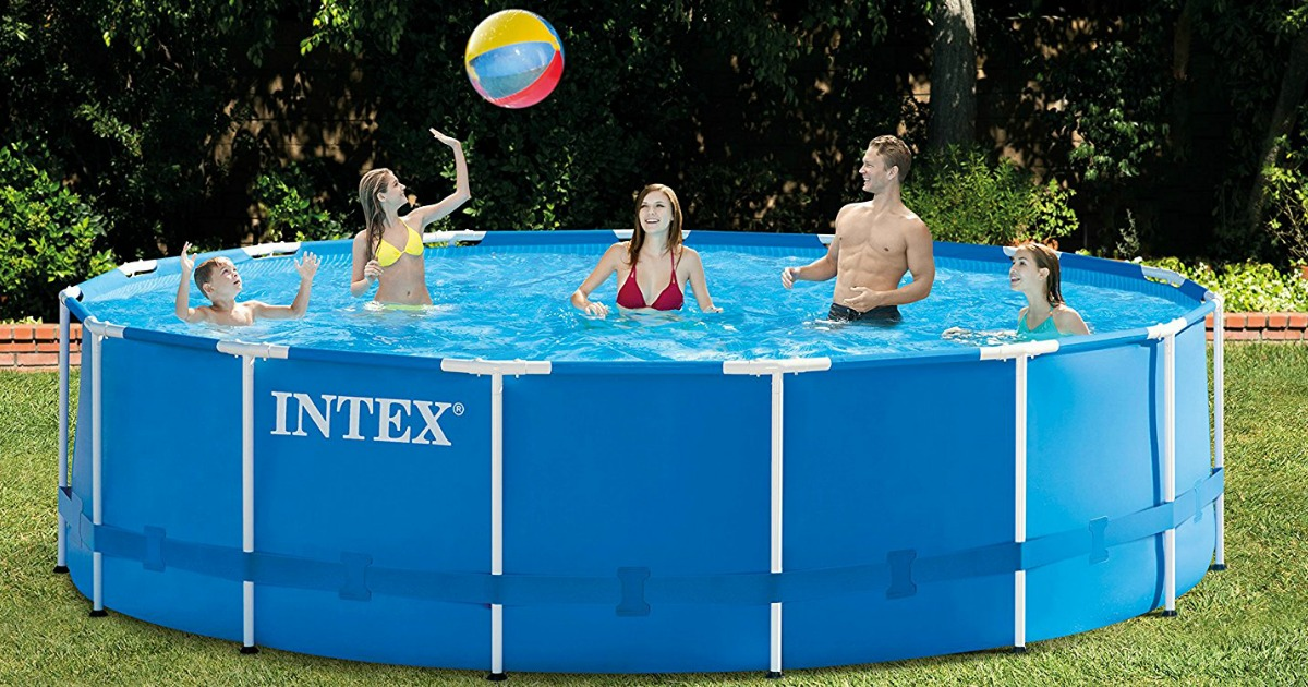 Intex 15 Foot X 48 Inch Metal Frame Pool Set Only 199