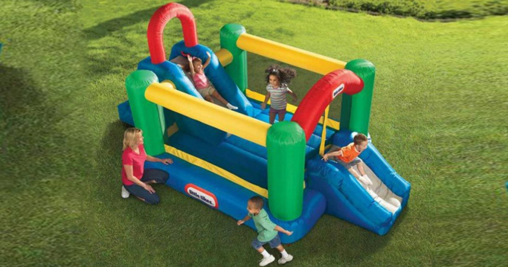 71e344eff8b1 Little Tikes Jump n Double Slide Bouncer Only  235 Shipped ...