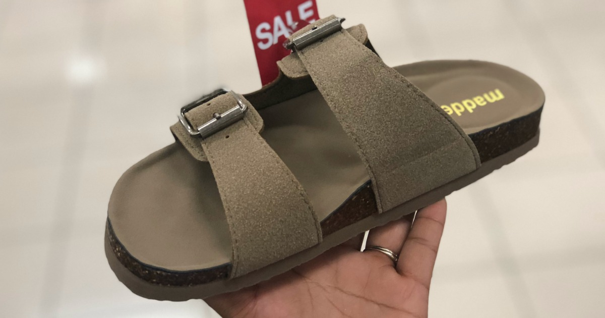 Madden Womens Flatbed Sandals Just