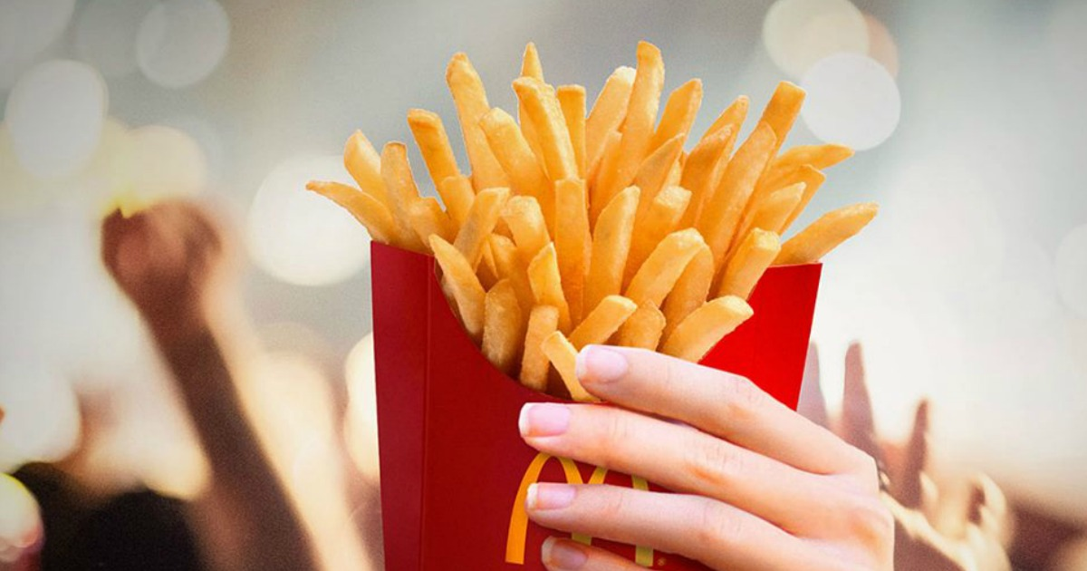 McDonald's Fries being held by person's hand