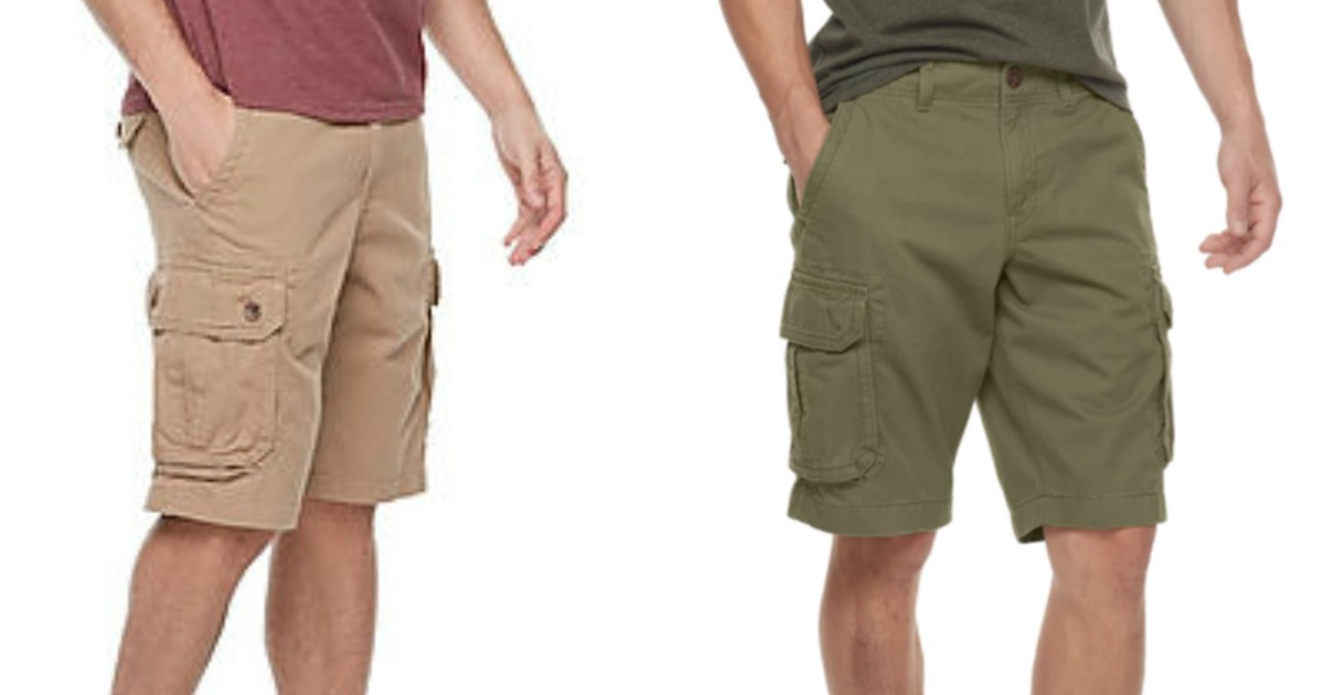 ebae08189f Hop on over to Kohls.com where these Men's Urban Pipeline Twill Cargo Shorts  are marked down to just $14.99 (regularly $40)! They have six pockets, ...