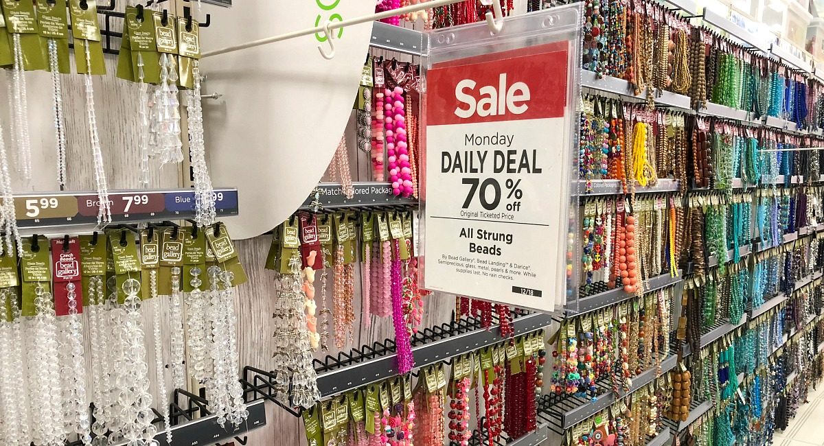 save 60-80% with one and two day deals at michaels hip2save