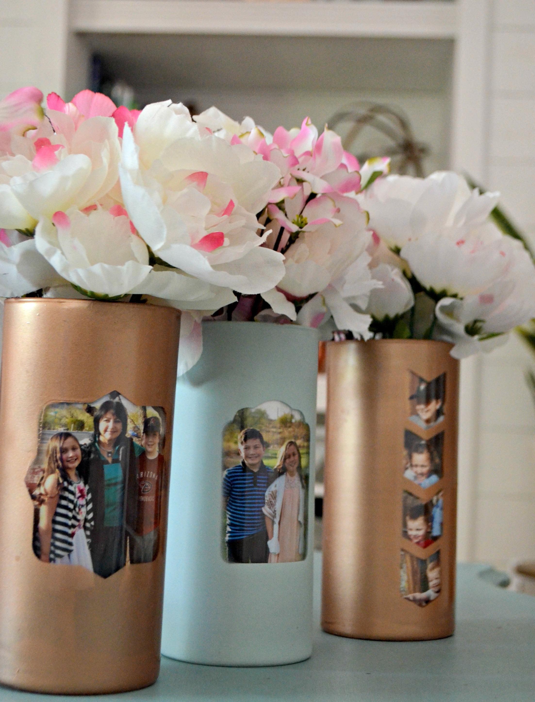 These beautiful vases display families and gorgeous, seasonal flowers.