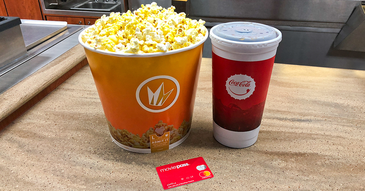 Dinner (well, popcorn) and a show, thanks to my relationship with MoviePass.