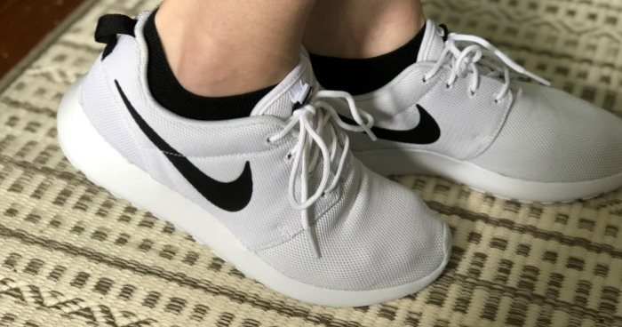 e4d4ca828 For a limited time, hop on over to Nike.com where you can score these Women's  Nike Roshe One Shoes in white/black/white for just $37.97 (regularly $75)!