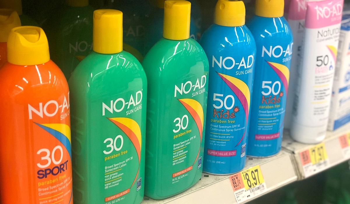 no-ad suncare sunscreen at walmart hip2save