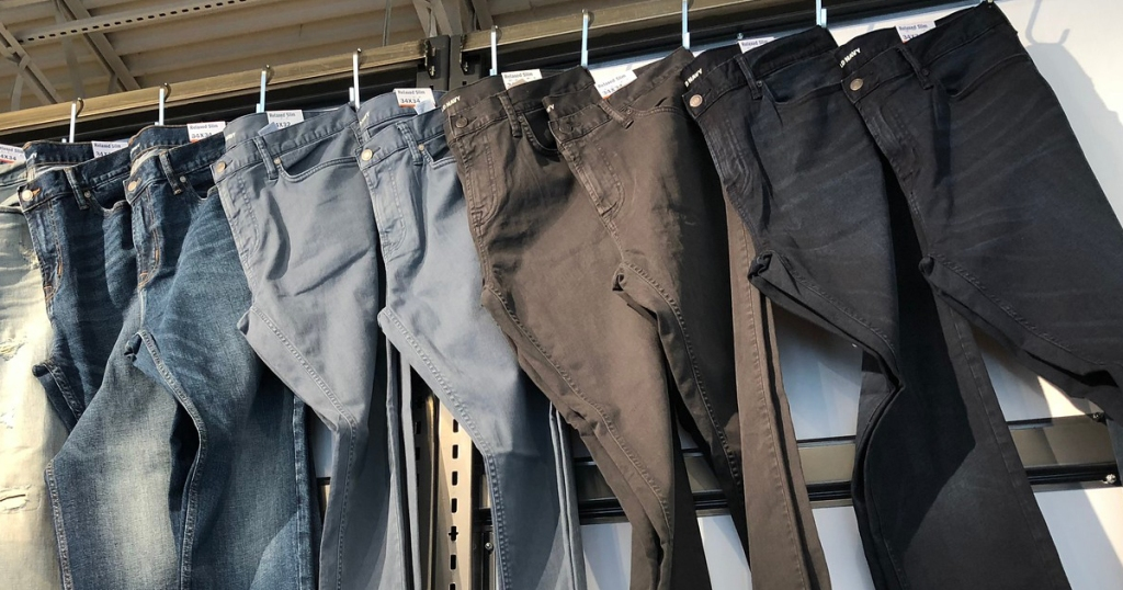 Old Navy Jeans on display