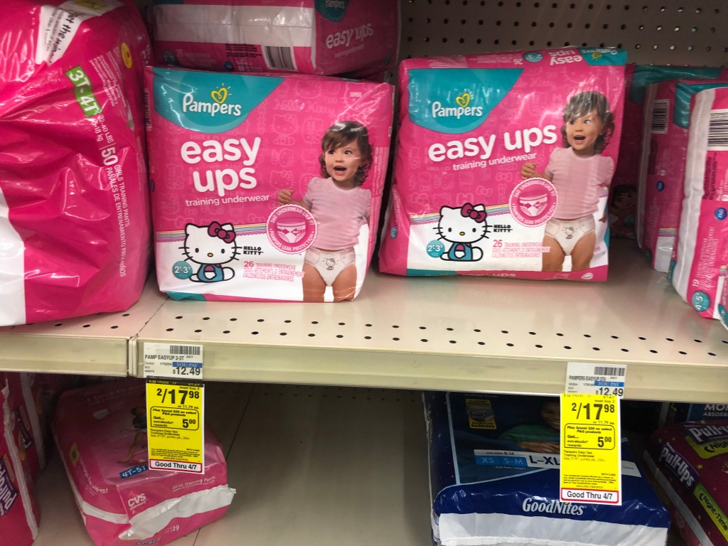 Cvs Pampers Diapers Amp Easy Ups Jumbo Packs Only 3 86