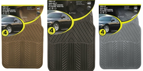 Sears: Pilot Automotive 4-Piece Rubber Floor Mats Only $8 (Regularly $20)