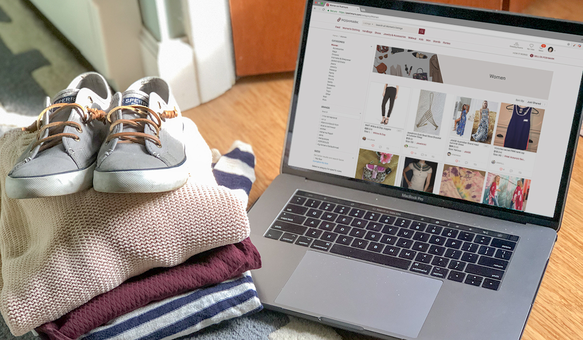 poshmark website to sell spring cleaning clothes hip2save