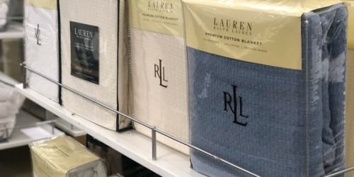 Ralph Lauren Classic 100% Cotton Blankets as Low as $17.99 at Macy's (Regularly $90+)