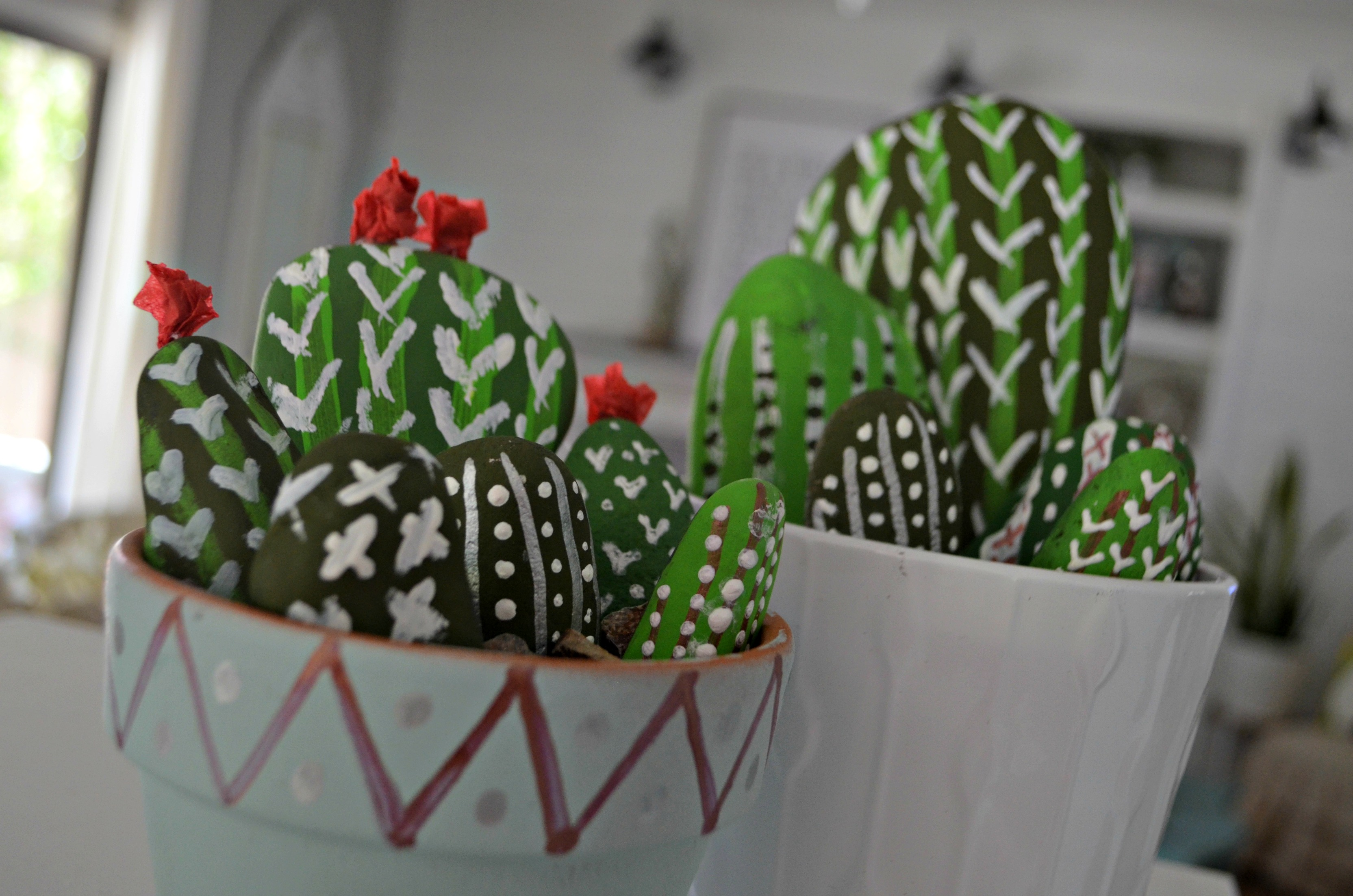 ... The Possibilities Are Endless With All The Designs You Can Make Using  Paint! This DIY Rock Cactus Garden Craft Is Fun And Lets You Use Your  Imagination.