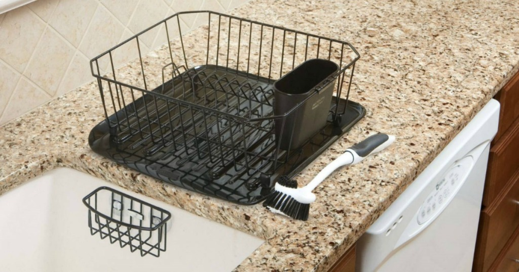 283e42f920b Rubbermaid Antimicrobial 4-Piece Dish Rack Drainer Set ONLY  15 ...