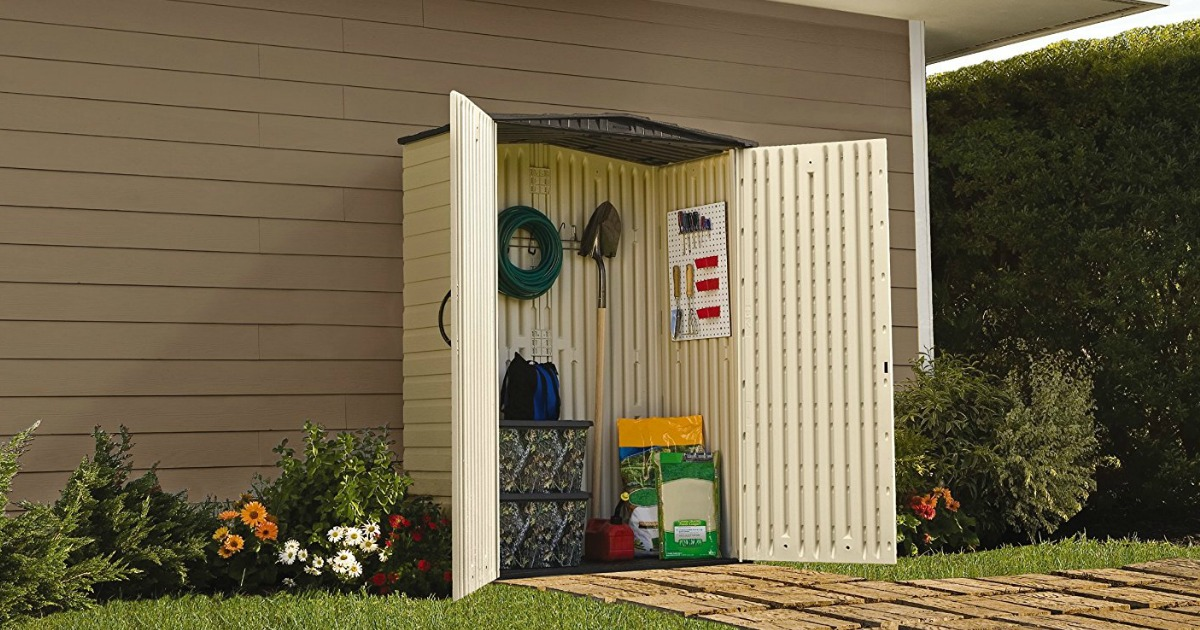 HomeDepot.com: Rubbermaid Outdoor Resin Storage Shed Just