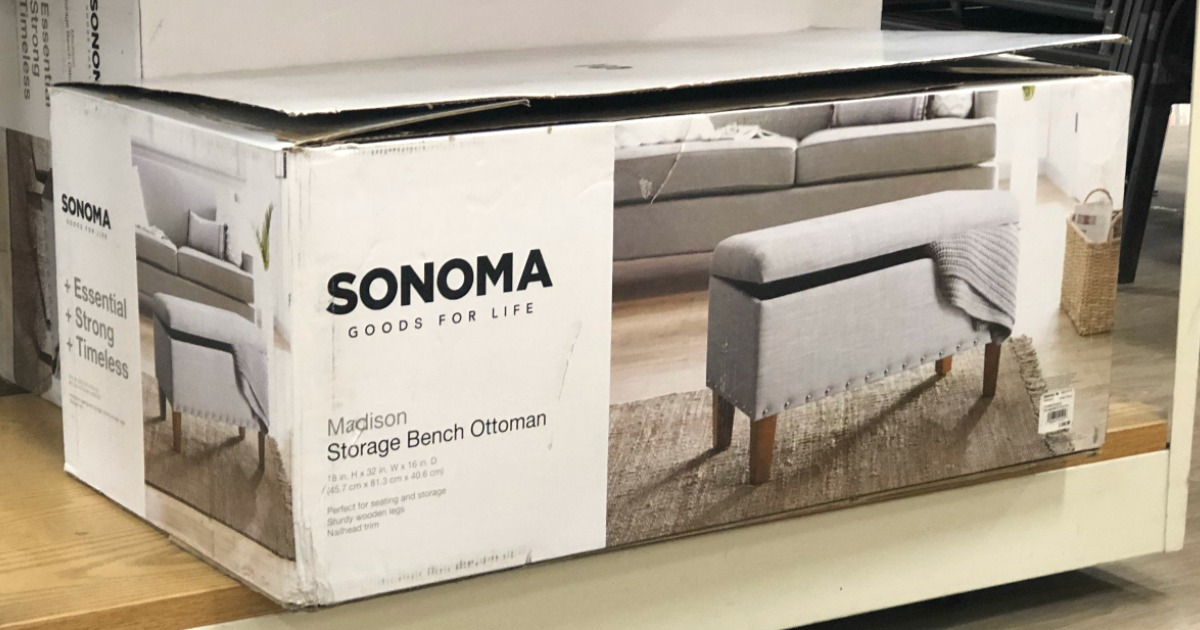 Sonoma Goods For Life Madison Storage Bench Just 67 99