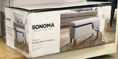 Sonoma Goods for Life Storage Ottoman from $74.99 Shipped on Kohl's.com (Regularly $150)