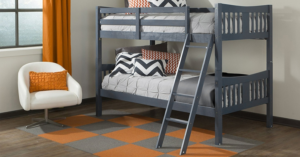 Amazon Storkcraft Solid Hardwood Twin Bunk Bed Set Only 167 99