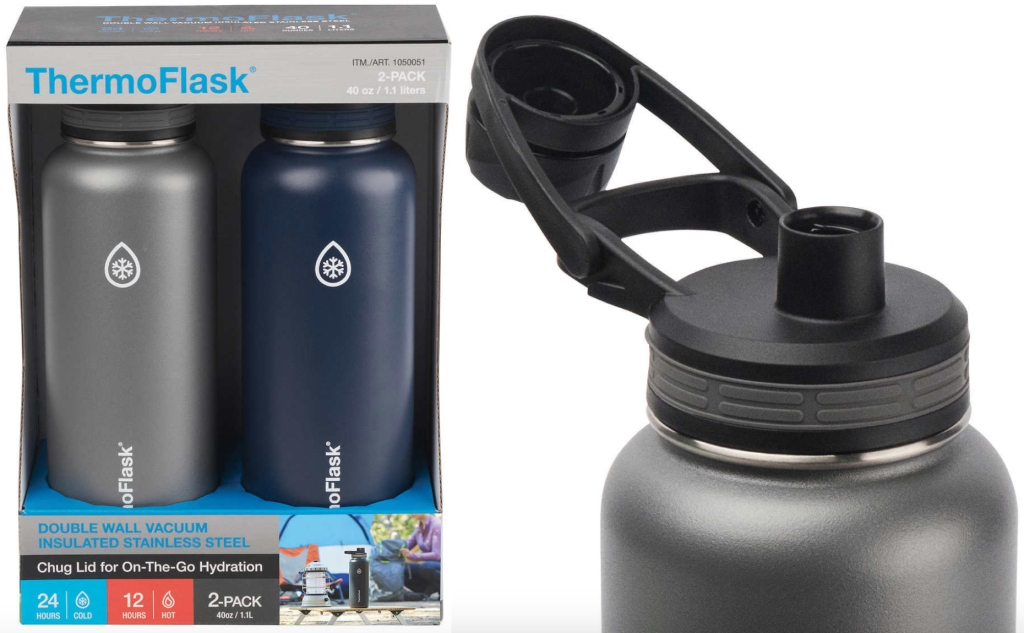 12d0e43e46 Here's the deal… Select. ThermoFlask 40oz Stainless Steel Insulated Water  Bottle ...
