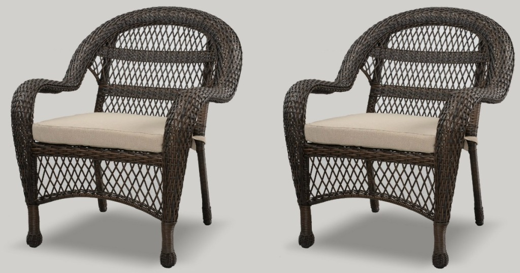 threshold wicker patio chairs only 56.50 each shipped on