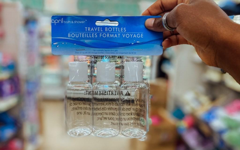 mini travel bottles from dollar tree