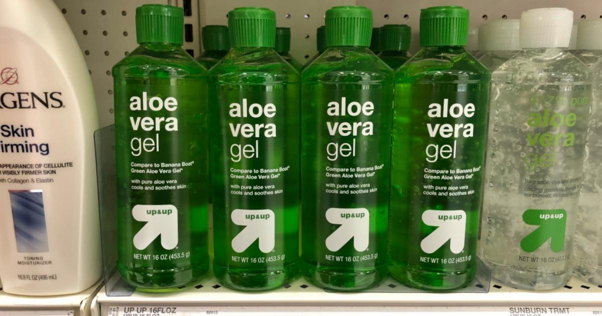 aloe vera gel on the store shelf