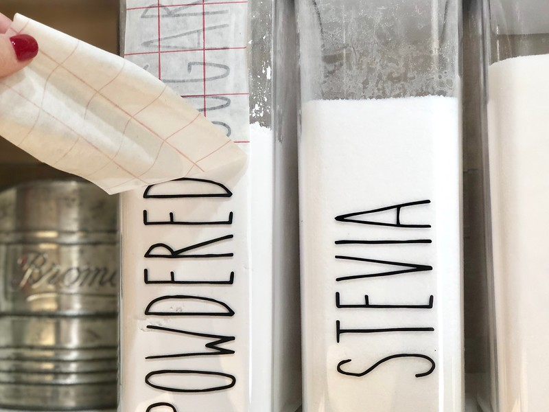 Cricut and Silhouette both make fantastic labels for household storage
