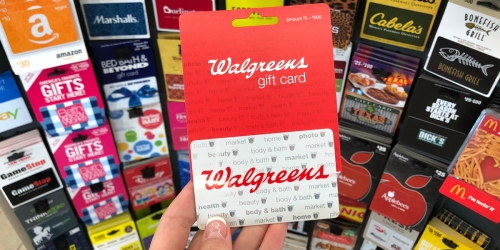 FREE $10 Walgreens Gift Card for Every $50+ Gift Card Purchase | Cabela's, Apple, Starbucks, & More