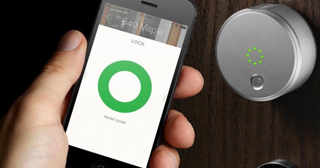 August Smart Lock Amp Hd Doorbell Camera Wireless Entry