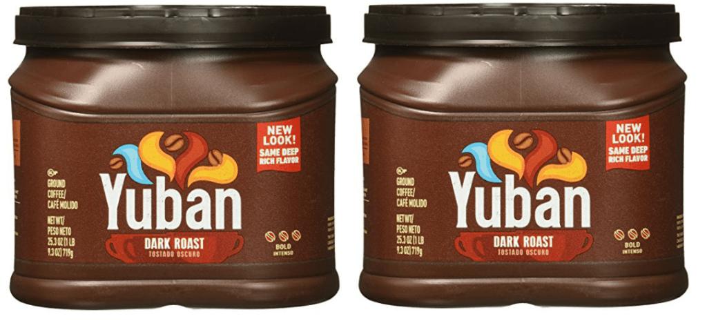 two Yuban Dark Roast Coffee Canisters