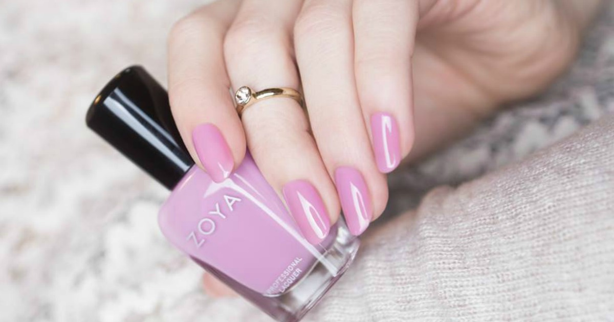 bottle of pink zoya nail polish