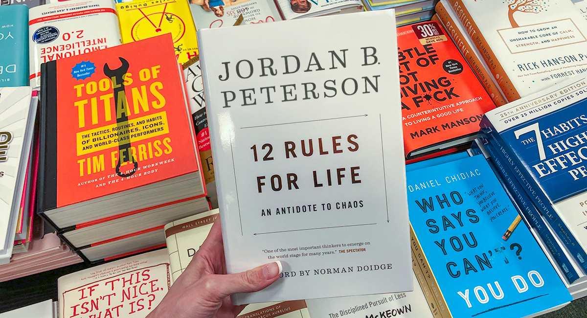 best Amazon self-help books — the 12 rules for life by jordan b peterson