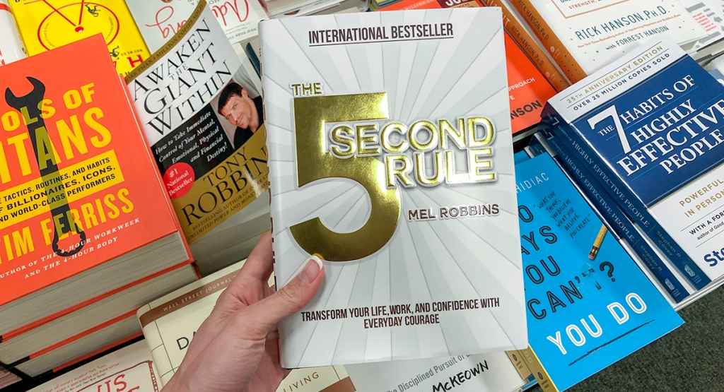 favorite self-help books — the 5 second rule by mel robbins